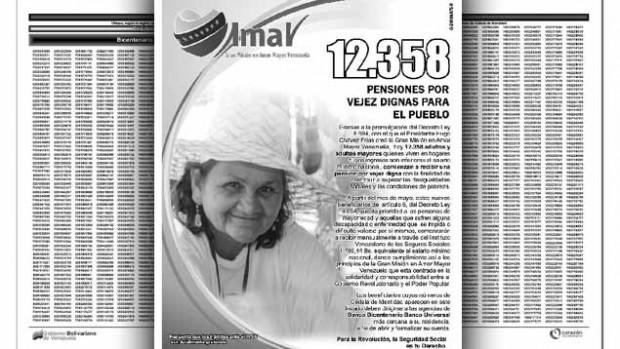 la lista de 12 538 nuevos pensionados de la gran misión en amor
