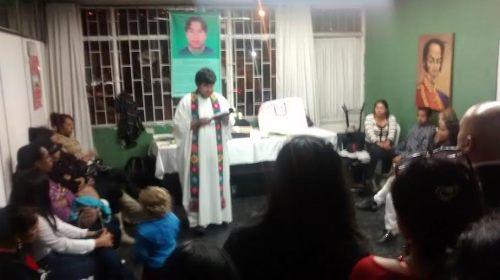 Ceremonia religiosa llevada a cabo en la sede de Provivienda en Barrio Policarpa el viernes 27 a las 8 de la noche. El sepelio se realizó el sabado 28 de marzo en Bogotá.