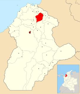 Ubicación del municipio de Chimá.Córdoba