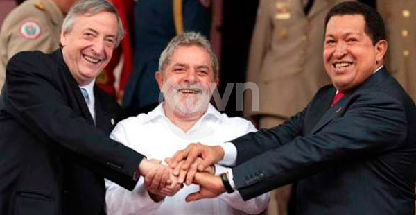 Kirchner-Lula-Chavez
