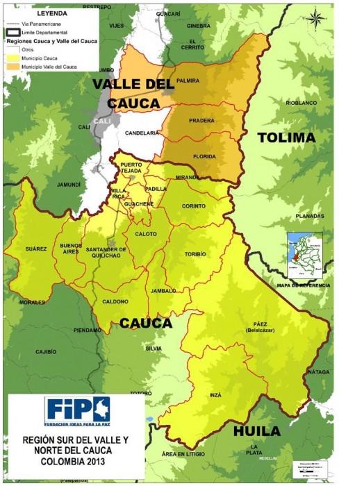 norte del Cauca y sur del Valle
